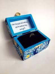 doctor who engagement ring starry wedding ring box handmade tardis engagement ring box