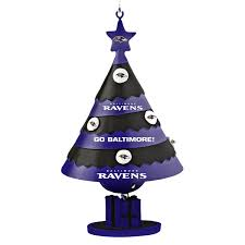baltimore ravens tree shaped bell ornament nflshop