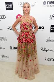 dress gown julianne hough floral dress red carpet dress