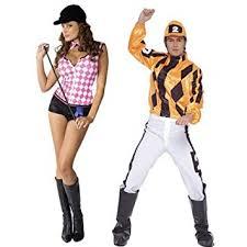 Horse Jockey Halloween Costume Couples Mens Ladies Jockey Derby Darling Horse Racing Races