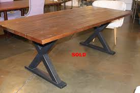 Metal Base For Trestle Table Solid Wood Dining Table Tops by Dining Tables Oak Table Dining X Base With Trestle Custom Metal