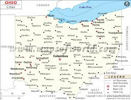 ohio on the map of usa buy map of ohio cities
