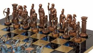 theme chess sets archers copper chess set package blue chess theme pieces