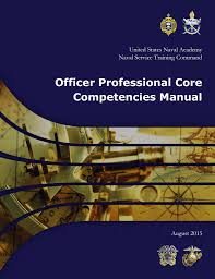 officer professional core competencies manual united states naval