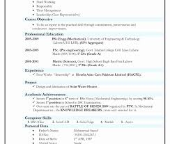 curriculum vitae format for freshers pdf mba application resume sle template harvard style free format