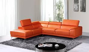 Orange Leather Sectional Sofa Sectional Sofa