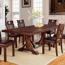 Warehouse M Adirondack Trestle Dining Table With Two Leaves - Trestle kitchen table