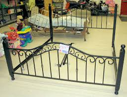 Iron Bed Frames King King Size Wrought Iron Bed Frame The Salvation Army Thrift Store