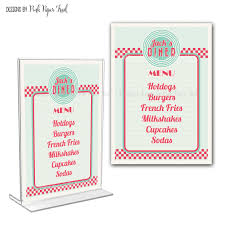 customizable menu templates retro diner menu card i will customize for you print your