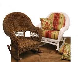 Rocker Cushions Wicker Domain Deep Seat Rocking Chair W Cushions