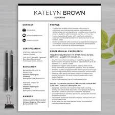 resume template for teachers resume template for ms word educator resume writing
