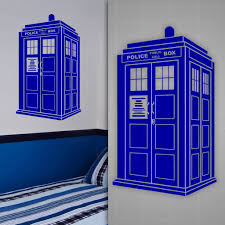 tardis wall decal doctor who style sticker kids room wall decor gogodecals