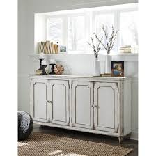 french provincial style door accent cabinet in antique white