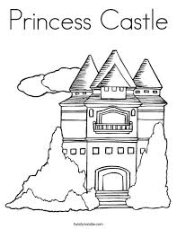 princess castle coloring twisty noodle