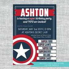 captain america printable party invitations and agents of