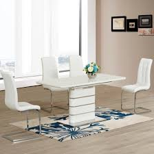 High Gloss Extending Dining Table Gorgeous High Gloss Extending Dining Table Pertaining To Home