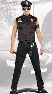cop costume cop officer ed banger costume mens cop costume sleeveless