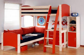 sharp red toddler bedroom sets presenting creative loft bed with