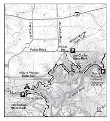 French Creek State Park Map by Trail Section Mn Wi Border To Duluth Hike The Sht
