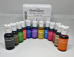 flour box bakery u2014 12 color kit chefmaster 70oz liqua gel