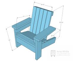 Wood Deck Chair Plans Free by Ana White Build A Fiona U0027s Doll Adirondack Chair Free And Easy