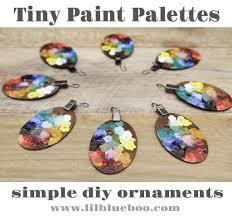 tiny paint palette ornaments themed decor lil blue boo