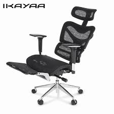 ikayaa us stock mesh office chair swivel tilt executive computer