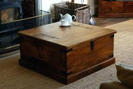 Trunk Style Coffee Table Square Trunk Coffee Table Coffee Table Stunning Brown Square