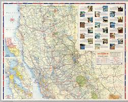 Enlarged Map Of The United States by North Half Road Map Of California David Rumsey Historical Map