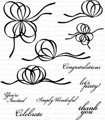 ribbons and bows ribbon bows st set papertrey ink clear sts dies paper ink