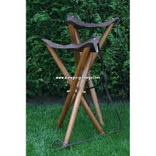 tripod seat chair with leather euregio gundog store