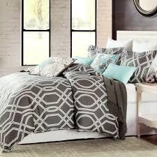 max studio modern geometric quatrefoil trellis pattern full queen