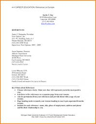 sample reference page for resume format of resumes tem saneme
