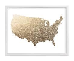 most beautiful us states impressive united states map filled foil pressed wall art geekink