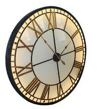 buy online uk antique mirror iron roman skeleton wall clock