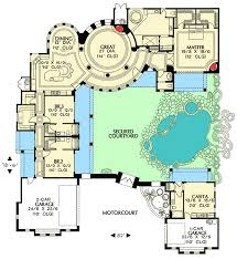 courtyard floor plans courtyard plan with guest casita 16312md architectural designs