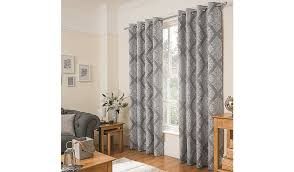 george home grey jacquard damask curtains read reviews and buy