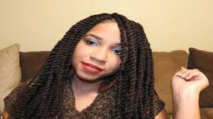 black cuban twist hair diy two strand twist with equal cuban twist hair youtube