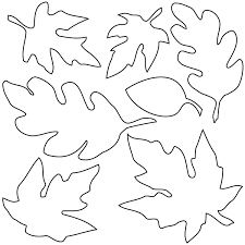coloring pages of leaf shapes fall leaf templates etame mibawa co