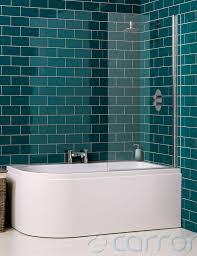 carron status 5mm acrylic shower bath 1550 x 850mm left handed