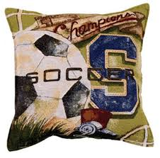 amazon com soccer vintage tapestry toss pillow usa made home
