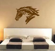 Western Room Decor Horse Decal Teen Girls Western Wall Decor Mustang Sticker Pony