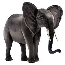 amazon com hansa plush ride on elephant 59 toys u0026 games