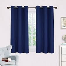 36 X 45 Curtains Navy Blue Blackout Draperies Curtains Nicetown All