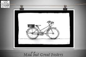 spencer home decor bicycle1 thomas spencer original poster vintage kitchen wall
