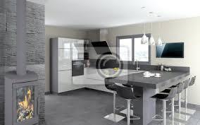 cuisine blanc brillant cuisine 09 cuisine blanc brillant et table en granit noir papier