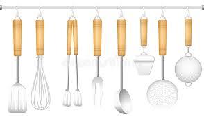 couverts cuisine couverts de cintre d outil de cuisine illustration de vecteur