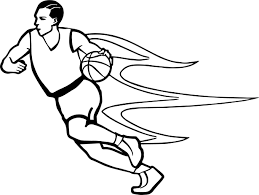 too fast player playing basketball coloring page wecoloringpage