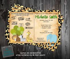 jungle baby shower invite safari passport jungle baby animals baby shower invitation