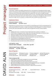 Pmo Cv Resume Sample Project Manager Resume Samples Visualcv Database In Software